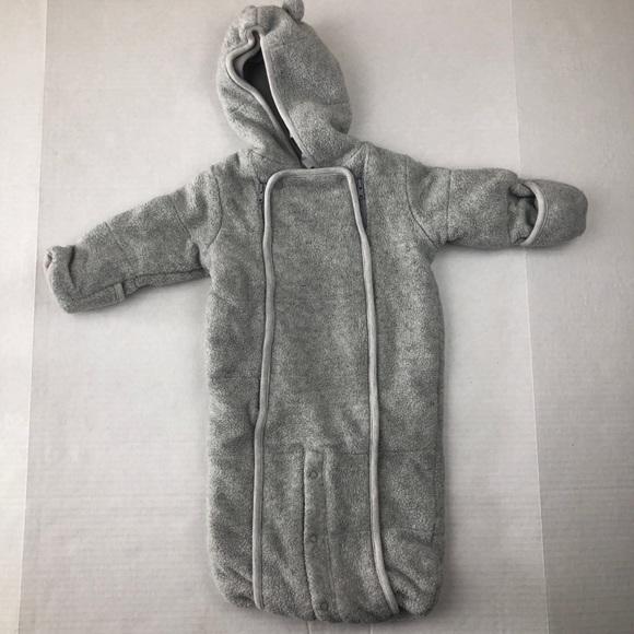 82d149135 GAP Jackets & Coats | Grey Fleece Baby Bunting Double Zip Newborn ...